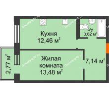 1 комнатная квартира 36,68 м² в OK Salut (Салют), дом ГП-6 - планировка
