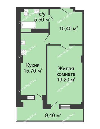 1 комнатная квартира 55,5 м² - ЖК Дом на Береговой