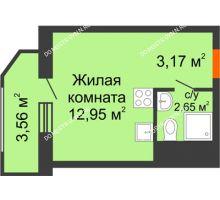 Студия 22,33 м² в ЖК Москва Град, дом 60/2 - планировка
