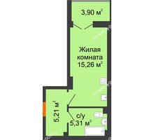 Студия 27,73 м² в ЖК Аврора, дом № 3 - планировка