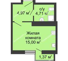 Студия 26,05 м², ЖК Соборный - планировка