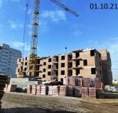 Ход строительства дома ПОЗ. Л 6.7  в ЖК Greenwood(Гринвуд) -