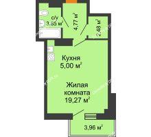 Студия 36,56 м² в ЖК Сокол Градъ, дом Литер 7 - планировка