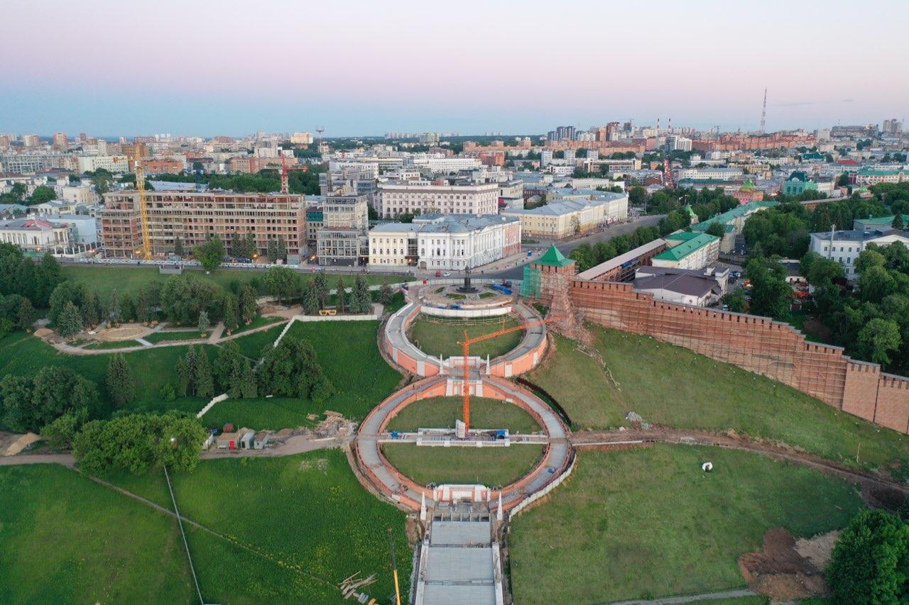 Реставрация Чкаловской лестницы подходит к завершению в Нижнем Новгороде - фото 1