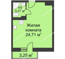 Студия 28,96 м² в ЖК Загородный мкрн Акварель  микрогород Стрижи, дом №7к2 - планировка