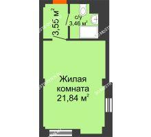 Студия 28,85 м², Апарт-Отель Гордеевка - планировка