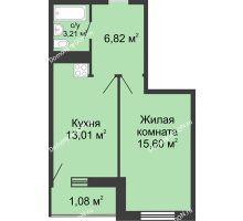 1 комнатная квартира 39,72 м² - ЖК Центральный-2