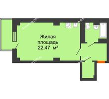 Студия 40,39 м² в ЖК Сокол Градъ, дом Литер 4 - планировка