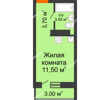 Студия 19,6 м² в ЖК Торпедо, дом № 1