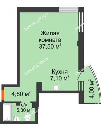 1 комнатная квартира 55,9 м² - ЖК Южная Башня