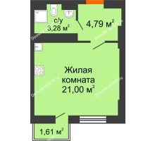 Студия 29,2 м² в ЖК Мечников, дом ул. Таврическая, 4 - планировка
