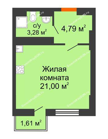 Студия 29,2 м² в ЖК Мечников, дом ул. Таврическая, 4