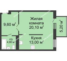 1 комнатная квартира 49,2 м², ЖК Нахичевань - планировка