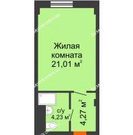 Апартаменты-студия 29,51 м², Апарт-Отель Гордеевка - планировка