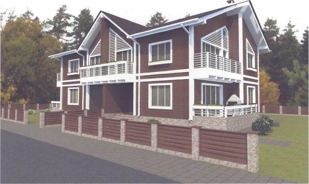 Дом Типа дуплекс (175,5 м2) в КП DolinaGreen (Долина Грин) - фото 1