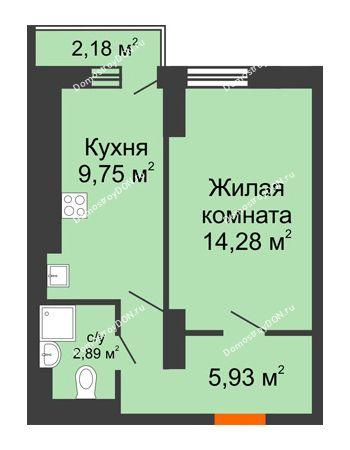 1 комнатная квартира 32,85 м² в ЖК Мечников, дом ул. Таврическая, 4